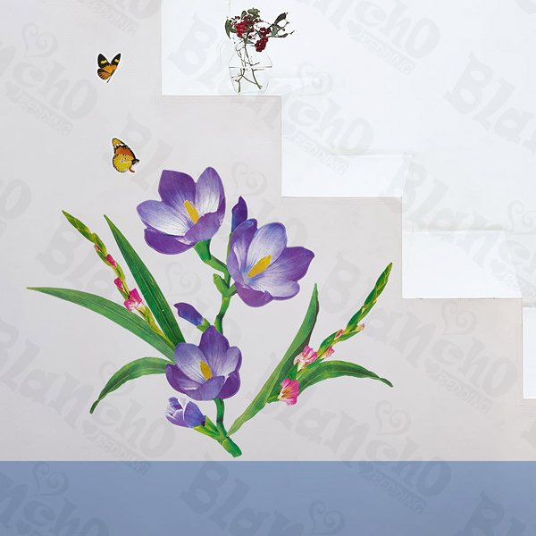 HEMU-LD-8019 Romantic Purple - Wall Decals Stickers Appliques Home Decor