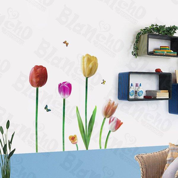 HEMU-LD-8028 Garish Lotus - Wall Decals Stickers Appliques Home Decor