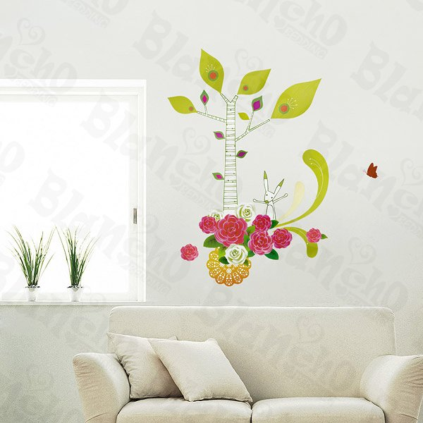 HEMU-LD-8066 Bright Flowers - Wall Decals Stickers Appliques Home Decor