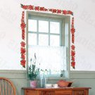 HEMU-SH-805 Flowers Fence - Wall Decals Stickers Appliques Home Decor