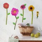 HEMU-SH-811 Loving Flowers - Wall Decals Stickers Appliques Home Decor