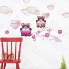 HEMU-SH-845 Twin Bear - Wall Decals Stickers Appliques Home Decor