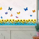 HEMU-SS-009 Flying Butterflies 6 - Wall Decals Stickers Appliques Home Decor