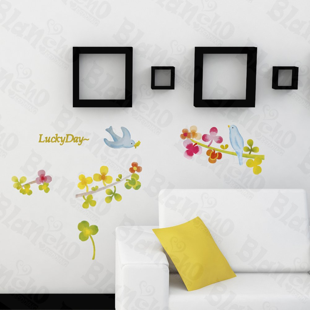 HEMU-TC-1092 Lucky Day - Wall Decals Stickers Appliques Home Decor 12.6 BY 23.6 Inches