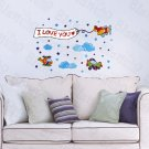 HEMU-TC-1096 Little Helicopter - Wall Decals Stickers Appliques Home Decor 12.6 BY 23.6 Inches