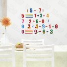 HEMU-TC-2173 Lovely Arithmetic - Large Wall Decals Stickers Appliques Decor 19.7 BY 27.5 Inches