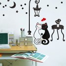 HEMU-TC-920 Sweet Cats - Hemu Wall Decals Stickers Appliques Home Decor 12.6 BY 23.6 Inches