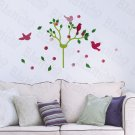 HEMU-TC-994 Cherry Blossom & Birds - Wall Decals Stickers Appliques Decor 12.6 BY 23.6 Inches