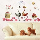 HEMU-XS-020 Love Cranes - Large Wall Decals Stickers Appliques Home Decor