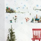 HEMU-XS-035 Snow World - Large Wall Decals Stickers Appliques Home Decor