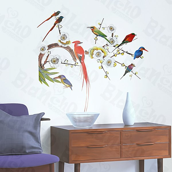 HEMU-XS-043 Parrots - Large Wall Decals Stickers Appliques Home Decor