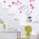 HEMU-XS-057 Coffee Love - Large Wall Decals Stickers Appliques Home Decor