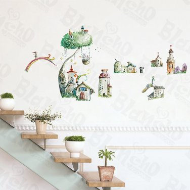 HEMU-ZS-051 Towers - Wall Decals Stickers Appliques Home Decor