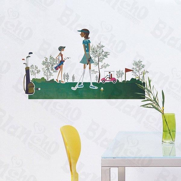 HEMU-ZS-074 Golf Girl - Wall Decals Stickers Appliques Home Decor