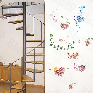 HEMU-ZS-076 Best Wishes - Wall Decals Stickers Appliques Home Decor