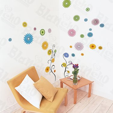HEMU-ZS-081 Flower Decor-5 - Wall Decals Stickers Appliques Home Decor