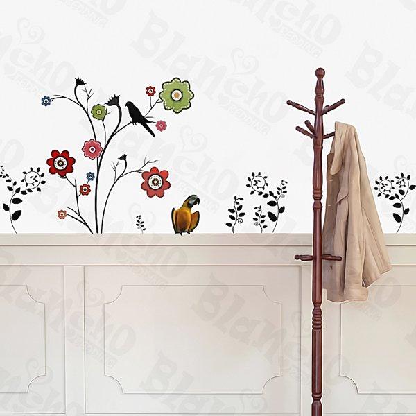 HEMU-ZS-082 Flower Decor-6 - Wall Decals Stickers Appliques Home Decor
