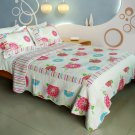 QTS-WB8001-23 [Pink Fairy Tale] Cotton 3PC Patchwork Quilt Set (Full/Queen Size)