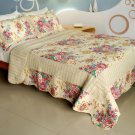 QTS-WB8030-23 [Girl Memories] Cotton 3PC Patchwork Quilt Set (Full/Queen Size)