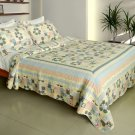 QTS-WB8037-23 [Halcyon Harmony] Cotton 3PC Patchwork Quilt Set (Full/Queen Size)