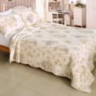 QTS-WB8039-23 [Floral Dream] Cotton 3PC Patchwork Quilt Set (Full/Queen Size)