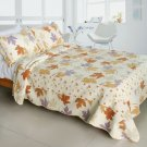 QTS-WB8046-23 [Ordinary Romantic] Cotton 3PC Patchwork Quilt Set (Full/Queen Size)