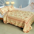 QTS-WB8047-23 [Beautiful Moment] Cotton 3PC Patchwork Quilt Set (Full/Queen Size)