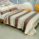 QTS-WB8051-23 [Blessness] Cotton 3PC Patchwork Quilt Set (Full/Queen Size)