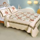 QTS-WB8071-23 [Lost in Venice] Cotton 3PC Patchwork Quilt Set (Full/Queen Size)
