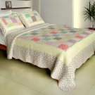 QTS-WB8083-23 [Sunny Travel] Cotton 3PC Patchwork Quilt Set (Full/Queen Size)
