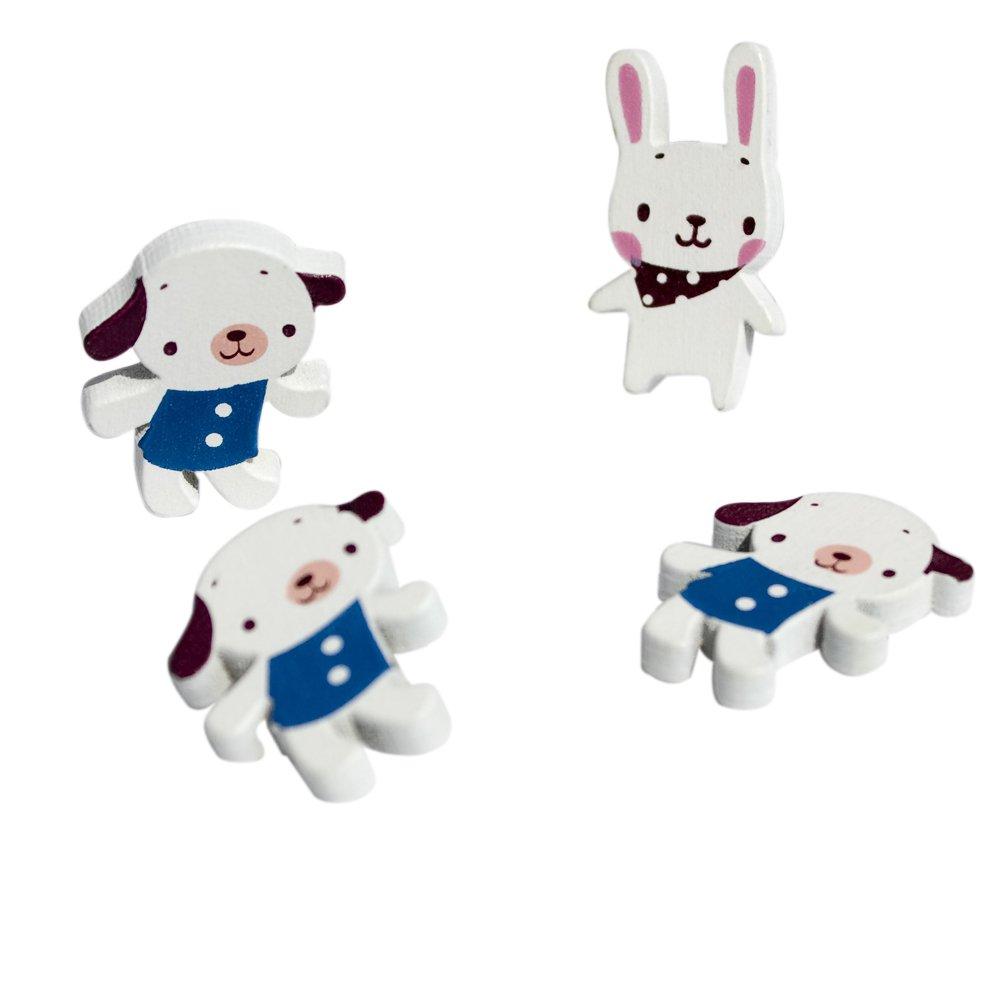 HC-BP003-DORA[White Dog & Rabbit] - Brooch / Brooch Pin / Animal Pin Brooch