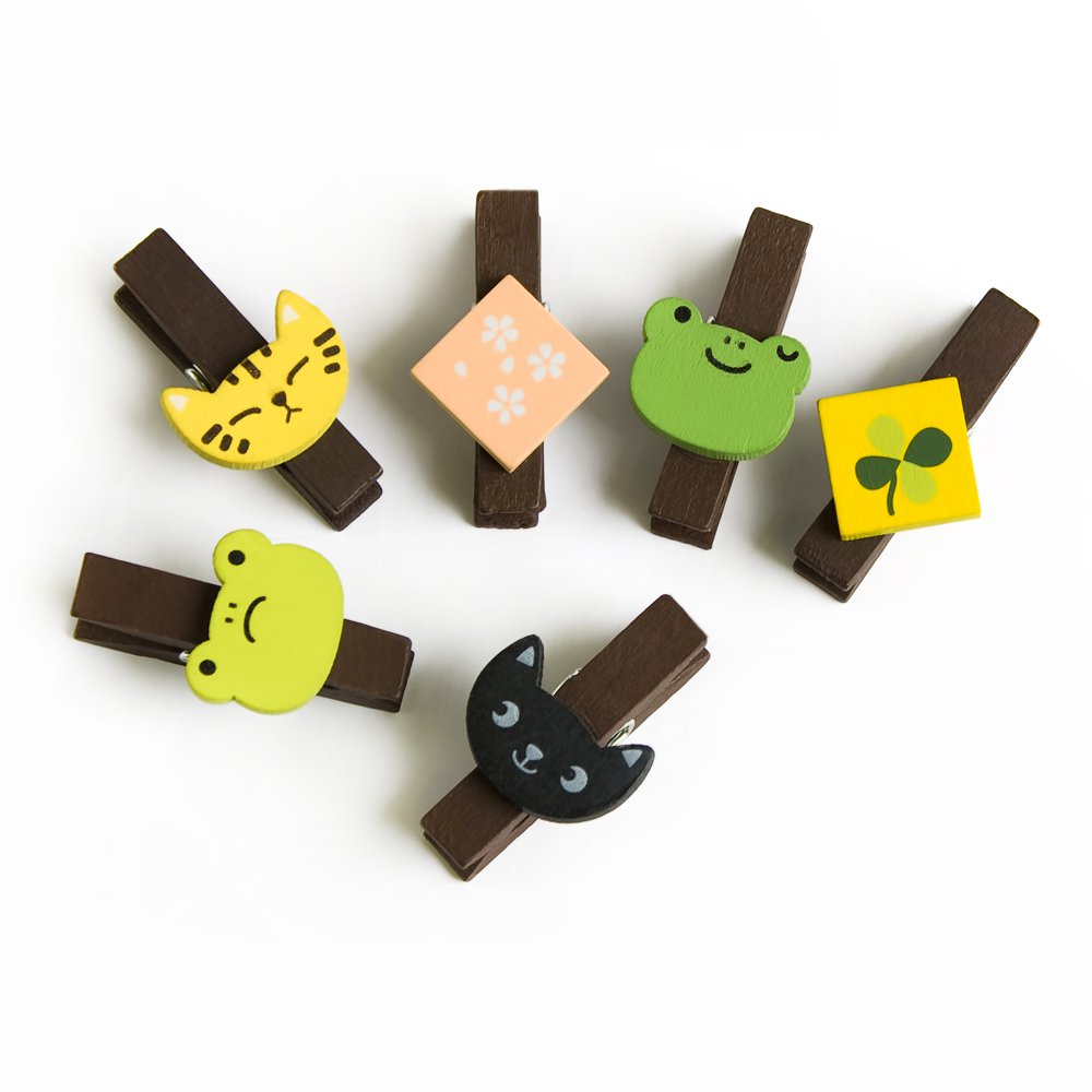 HC-WC008[Sundry Animals] - Wooden Clips / Wooden Clamps / Mini Clips