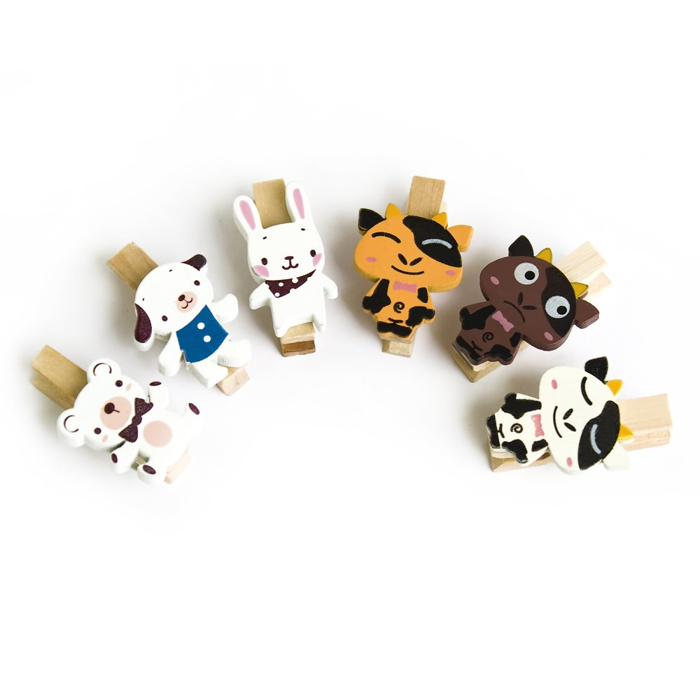 HC-WC013[Sweet Family] - Wooden Clips / Wooden Clamps / Mini Clips