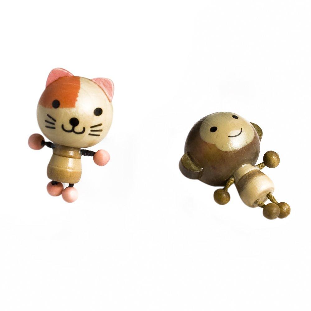 HC-RM004-CAMO[Cat & Monkey] - Refrigerator Magnets / Animal Magnets