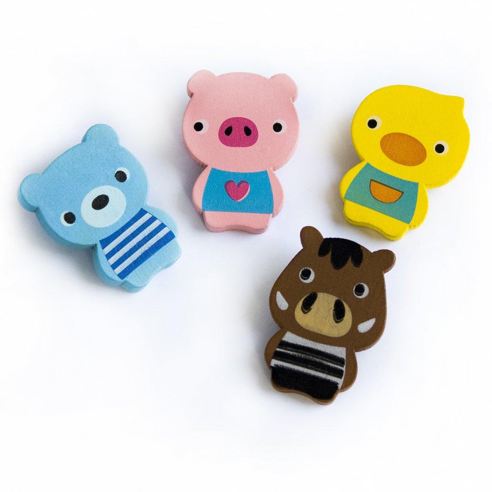 HC-RM005-BPCP[Smile Animals-1] - Refrigerator Magnets / Animal Magnets