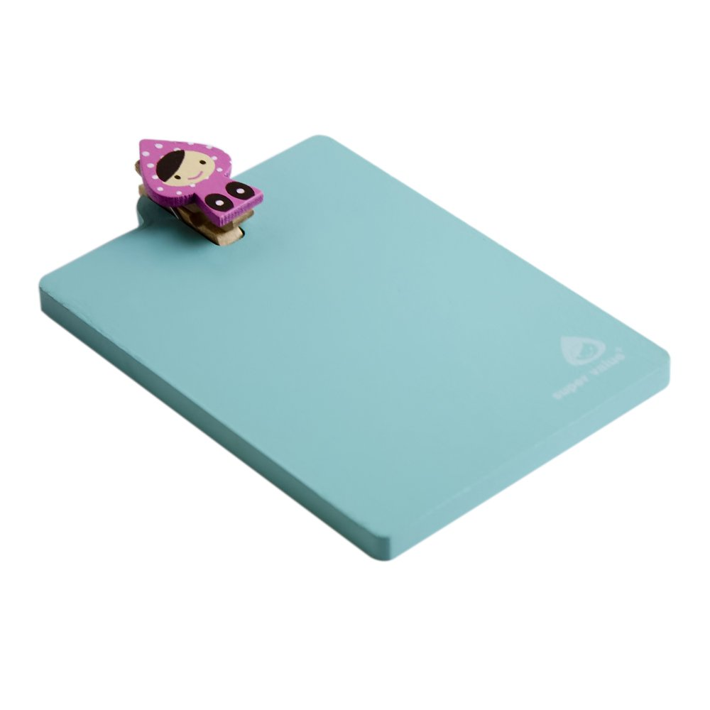HC-RMC001-GREEN[Lovely Doll-3] - Refrigerator Magnet clip / Magnetic Clipboard