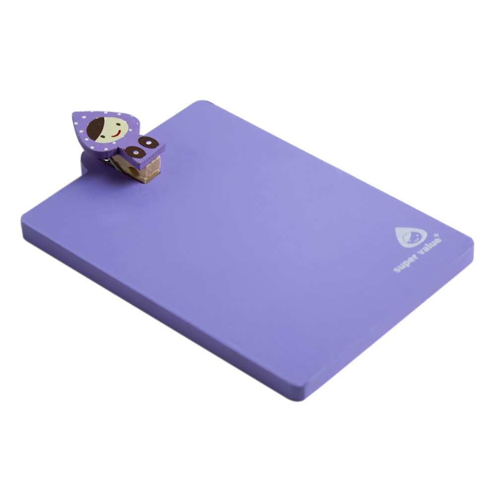 HC-RMC001-PURPLE[Lovely Doll-4] - Refrigerator Magnet clip / Magnetic Clipboard