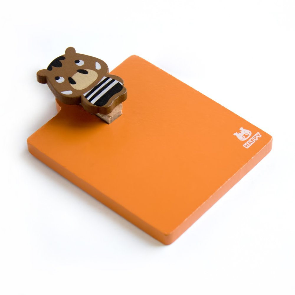 HC-RMC003-WILDBOAR[Sweet Animals-8] - Refrigerator Magnet clip / Magnetic Clipboard