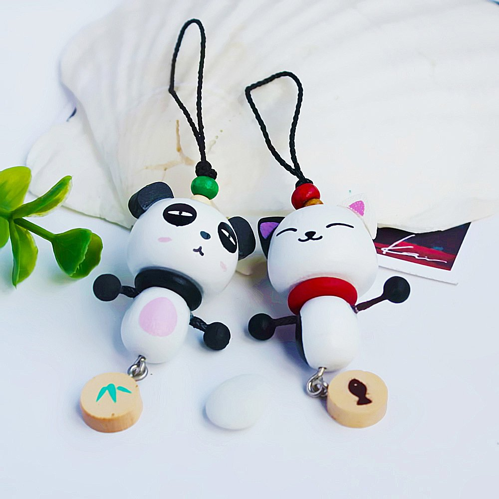 HC-C015-WHPA[Lively Animal-4] - Cell Phone Charm Strap / Camera Charm Strap / Handbags Charms