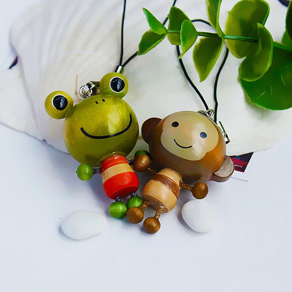 HC-C017-MOFR[Frog & Monkey] - Cell Phone Charm Strap / Camera Charm Strap / Handbags Charms