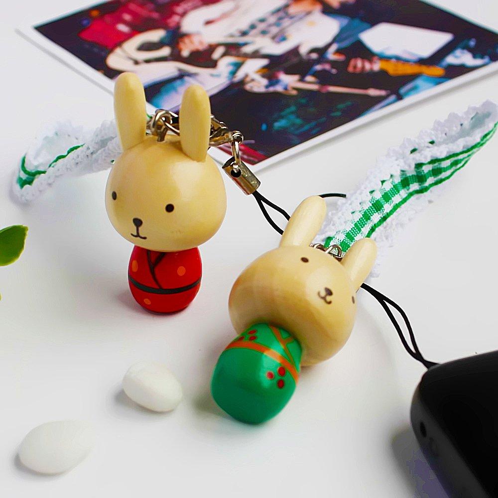 HC-C019-REGR[Kimono Rabbit-1] - Cell Phone Charm Strap / Camera Charm Strap / Handbags Charms