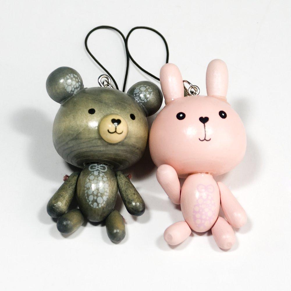 HC-C022-GRPI[Sweet Bear-4] - Cell Phone Charm Strap / Camera Charm Strap / Handbags Charms