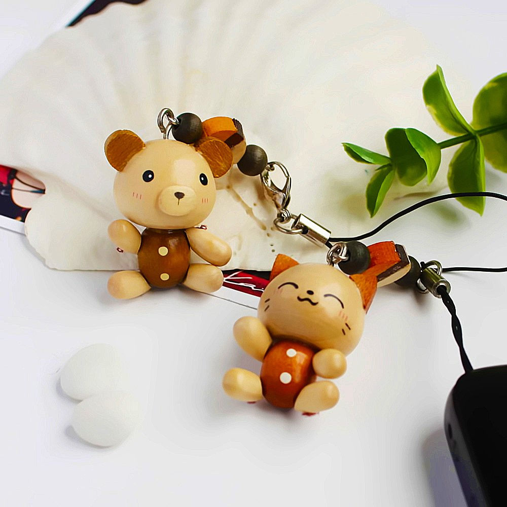 HC-C023-PACA[Smile Animals-2] - Cell Phone Charm Strap / Camera Charm Strap / Handbags Charms