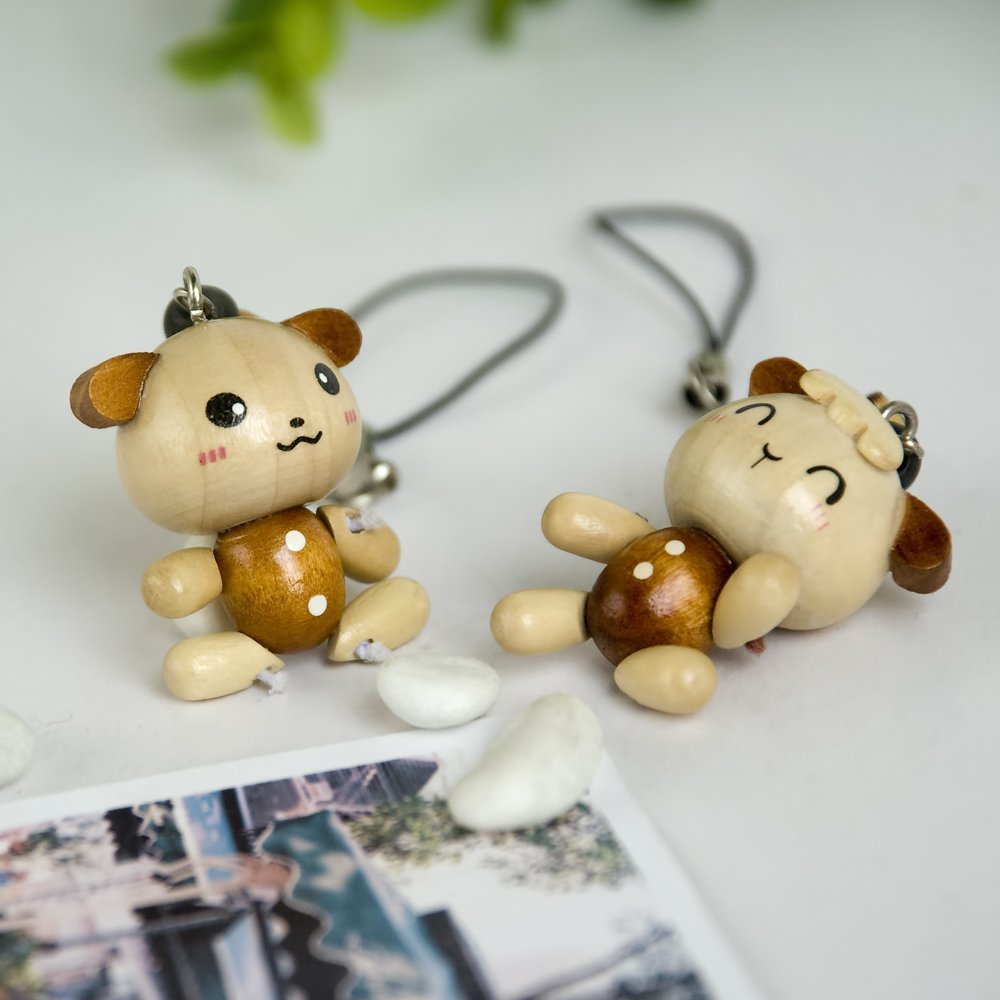 HC-C023-SHDO[Smile Animals-4] - Cell Phone Charm Strap / Camera Charm Strap / Handbags Charms