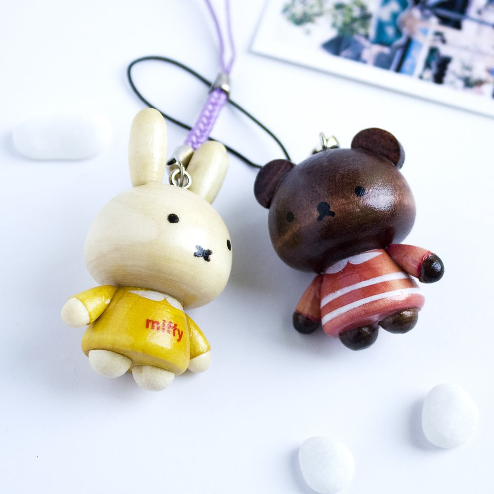 HC-C028-YRPB[Lovely Miffy-1] - Cell Phone Charm Strap / Camera Charm Strap / Handbags Charms