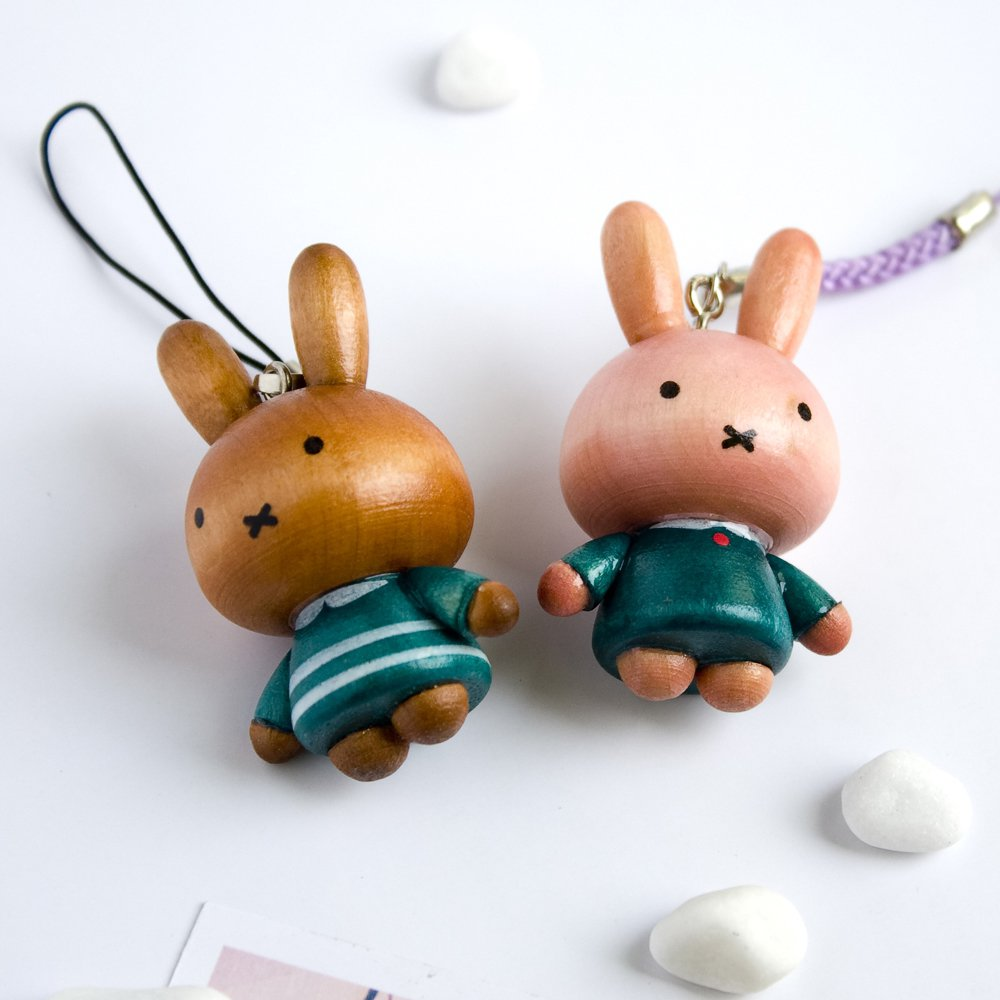 HC-C028-GRGR[Lovely Miffy-2] - Cell Phone Charm Strap / Camera Charm Strap / Handbags Charms