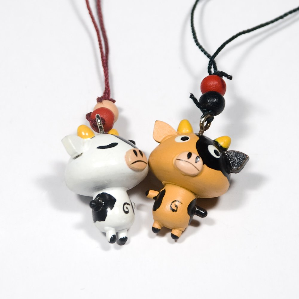 HC-C030-WHYE[Happy Pig-2] - Cell Phone Charm Strap / Camera Charm Strap / Handbags Charms