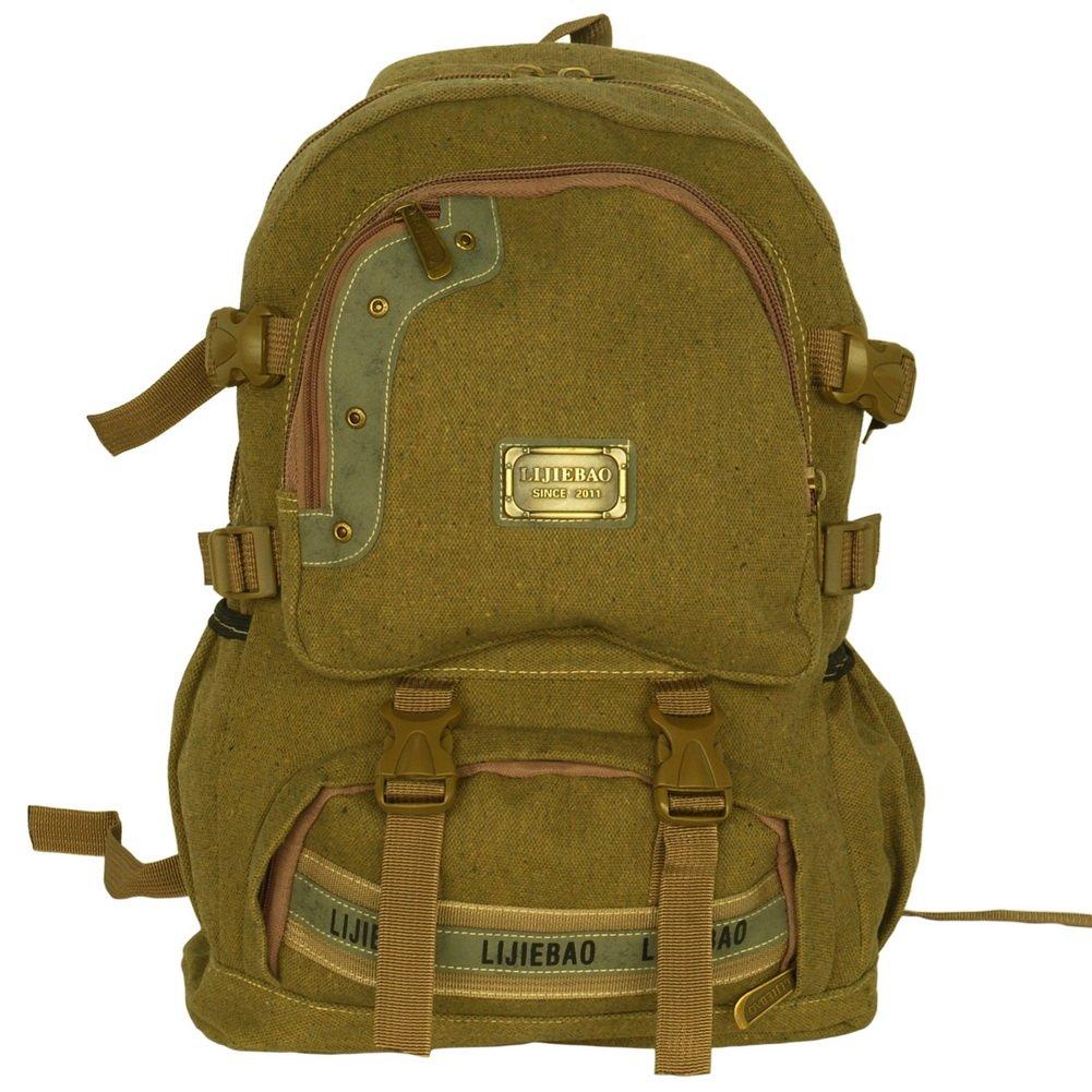 BP-WDL018-KHAKI[Own Propert] Multipurpose canvas Outdoor Backpack /   School Bag - Khaki