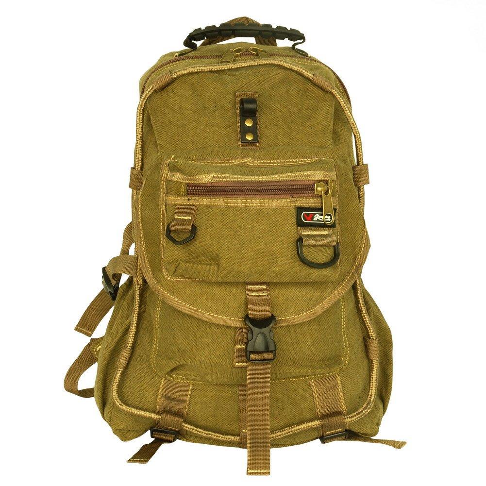 BP-WDL020-KHAKI[City Boy] Multipurpose Canvas Outdoor Backpack /   School Bag - Stylish Khaki