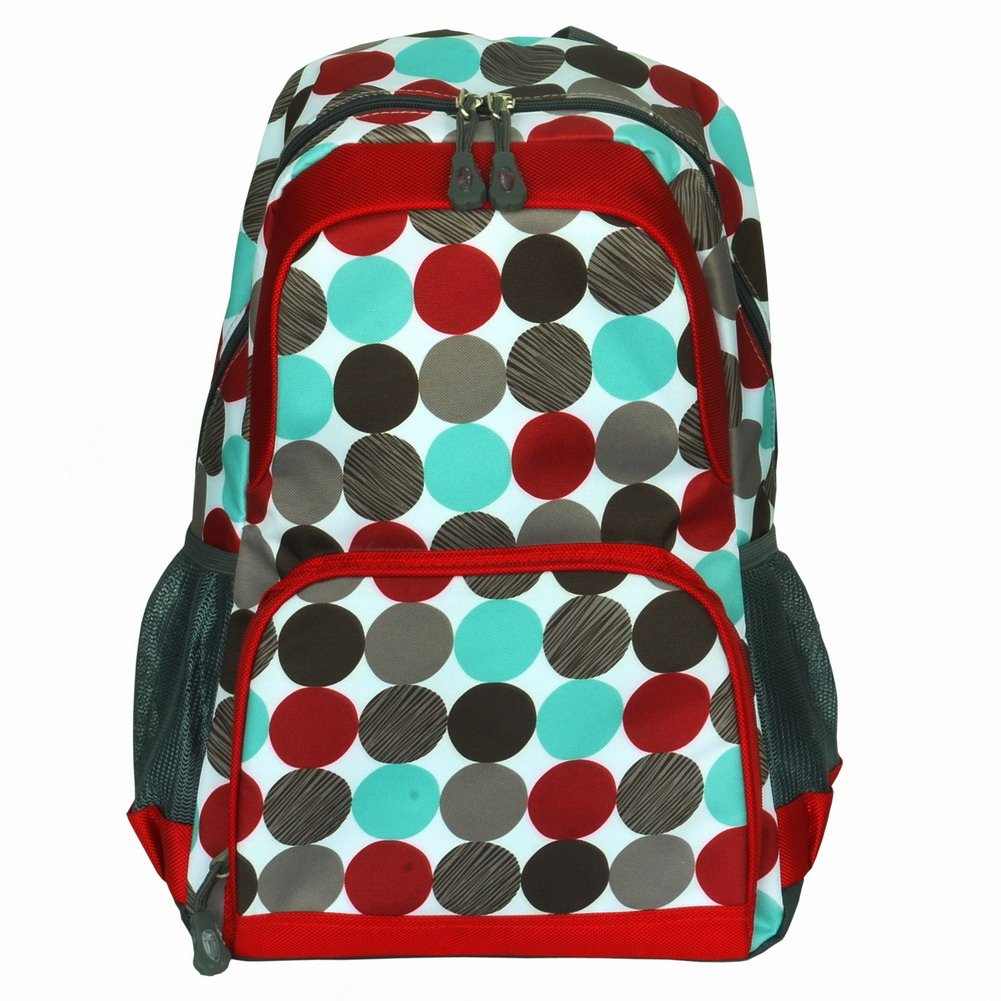BP-WDL022-DOTS[Colorful Dots] Fashion Multipurpose Student School Bag / Backpack - Polyester